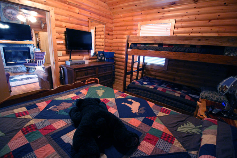 View 1 Guest Bedroom Old West Log Cabin