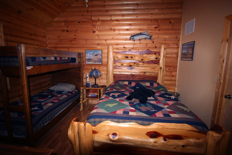 View 2 Guest Bedroom Old West Log Cabin