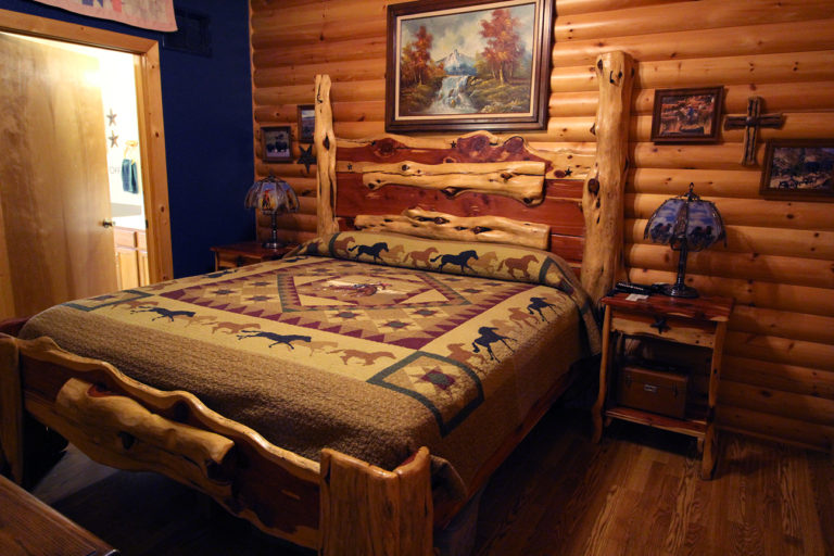 Master Bedroom View #2 Old West Log Cabin
