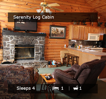The Serenity Log Cabin - Vacation Rentals Branson MO