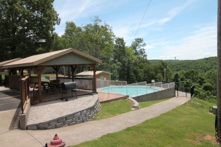 Pavilion and Pool #1 at Notch Estates