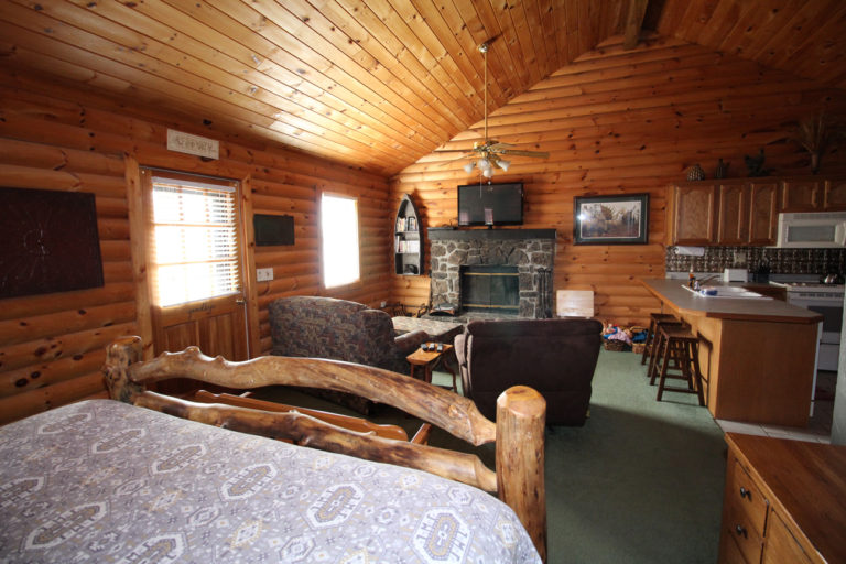 Main Living Area Serenity Log Cabin