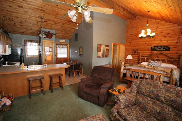 Bathroom and Kitchen Serenity Log Cabin
