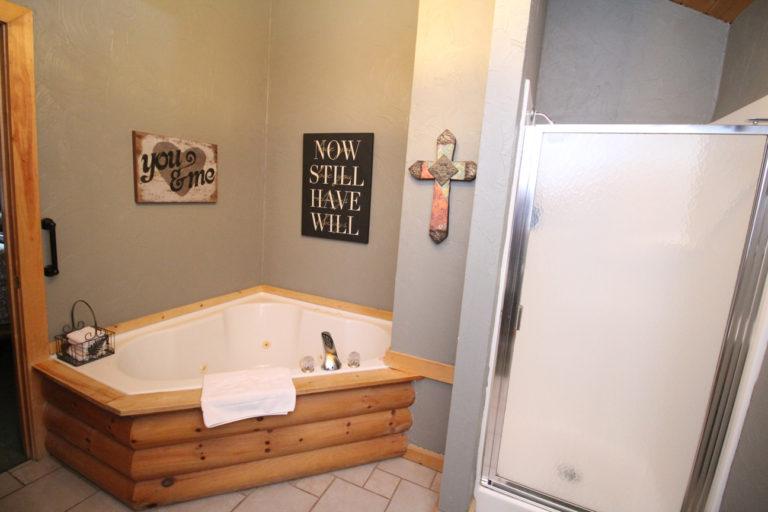 Bathroom View #2 Serenity Log Cabin