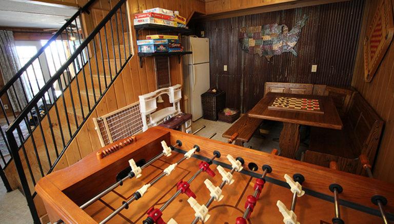 Game Room at Deer Trail Log Cabin