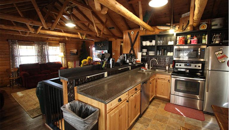 Kitchen Deer Trail Log Cabin
