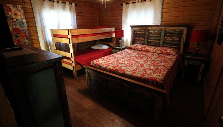 Bedroom #4 With Bunk Beds Deer Trail Log Cabin