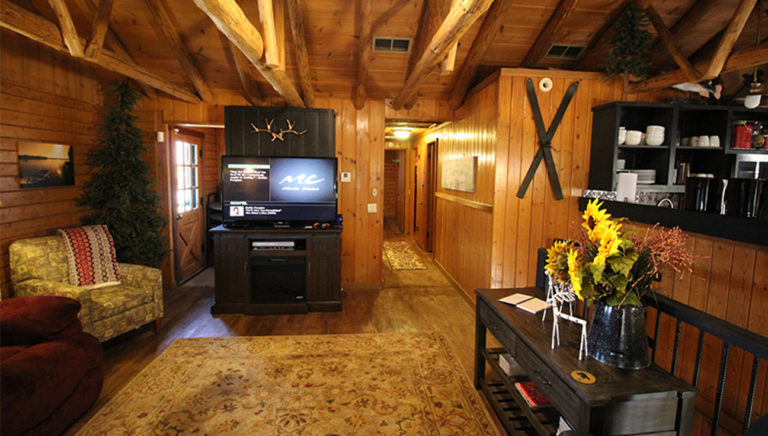 Living Area Deer Trail Log Cabin