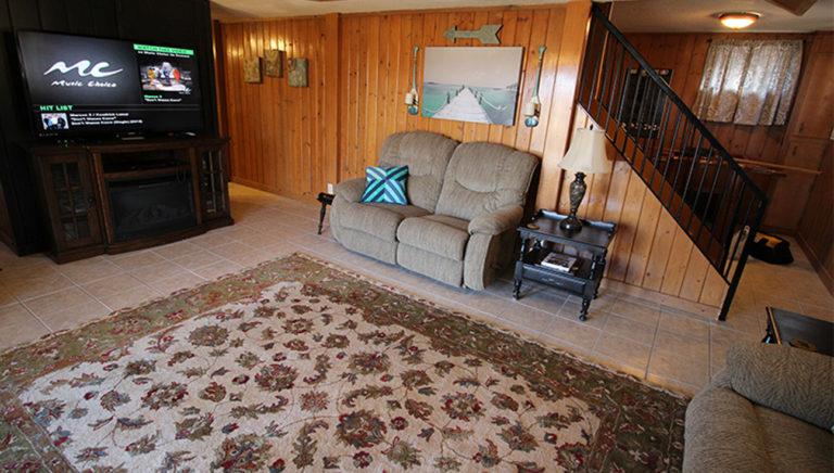 Entertainment Center Deer Trail Log Cabin