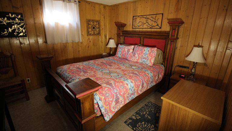 Bedroom #1 Deer Trail Log Cabin