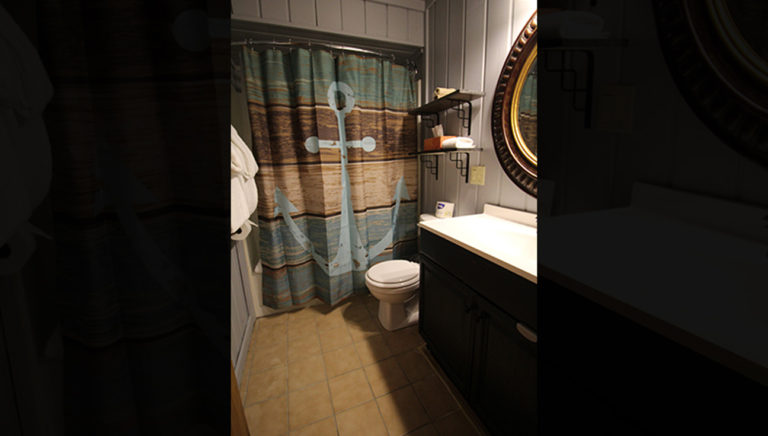 Bathroom #1 Deer Trail Log Cabin