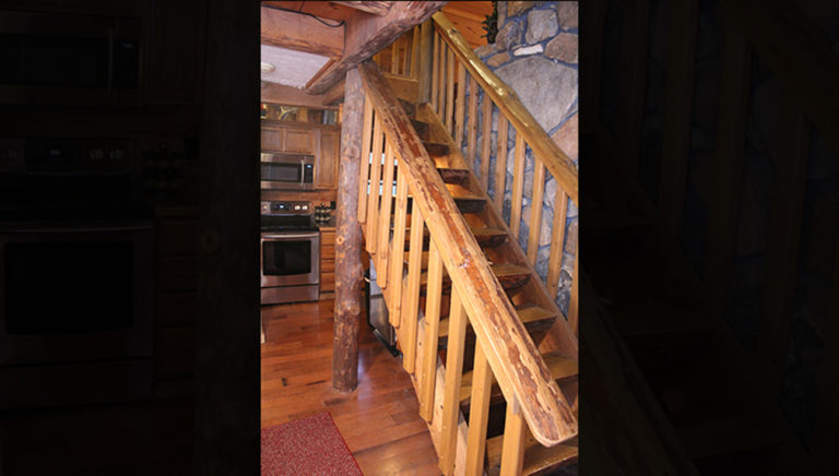 Staircase Lake Side Log Cabin