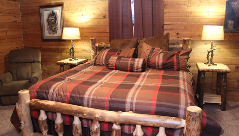 Bedroom #1 Lake Side Log Cabin