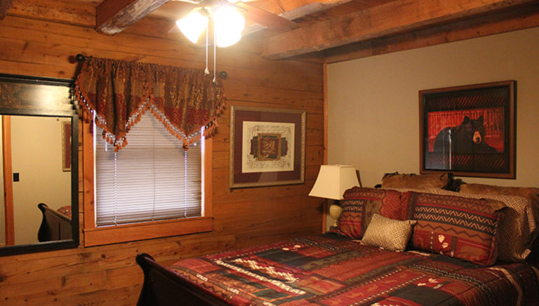 Bedroom #2 Lake Side Log Cabin