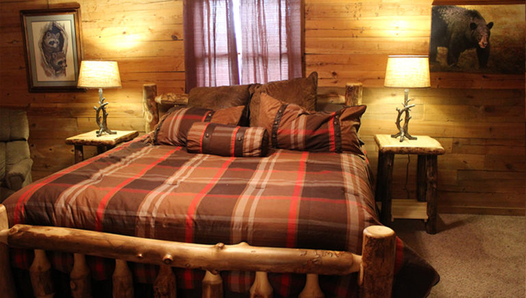 Bedroom #1 View #2 Lake Side Log Cabin