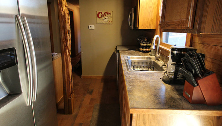 Kitchen View #2 Lake Side Log Cabin