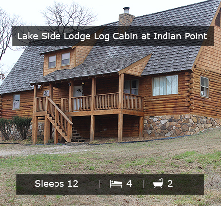 Lake Side Log Cabin - Vacation Rentals Branson MO