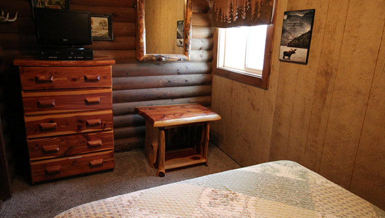 Optional 3rd Bathroom View #2 Split Oak Log Cabin