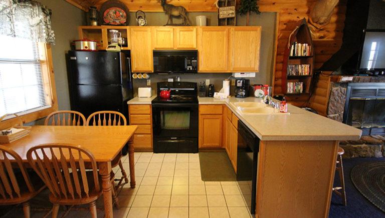 Kitchen Split Oak Log Cabin