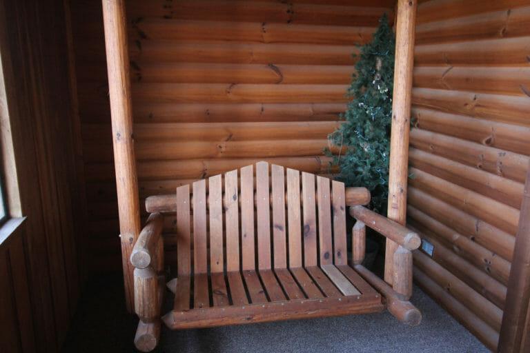 Back Porch View #2 Trails End Log Cabin