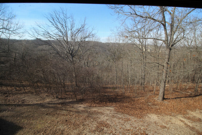 View From Deck Trappers Den Log Cabin