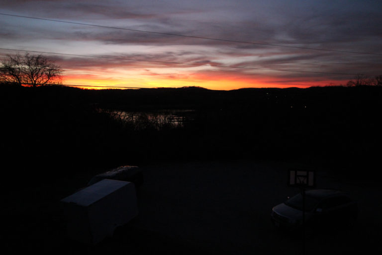 Sunset at Deer Trail Log Cabin