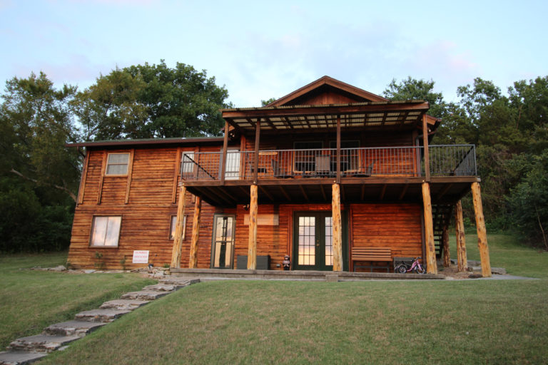 Outside View of Deer Trail Log Cabin