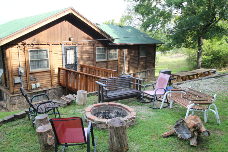 Back View of Deer Trail Log Cabin