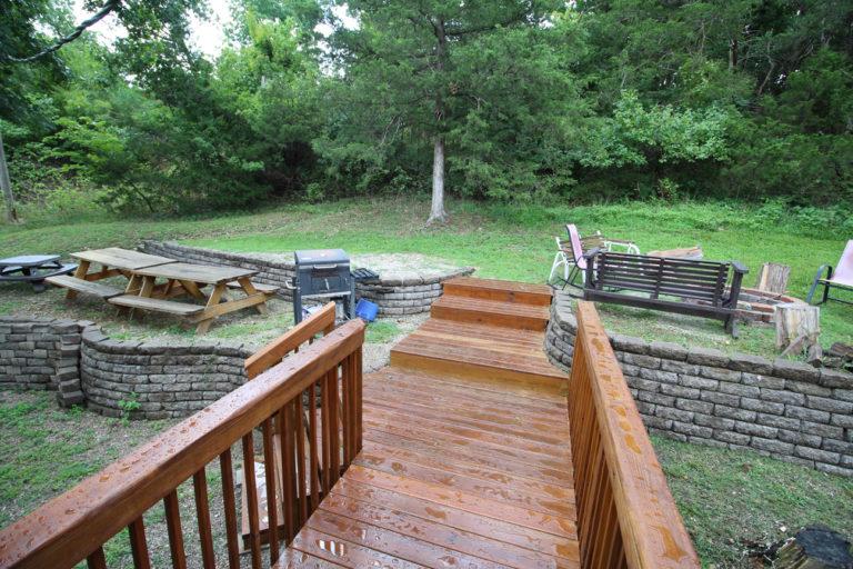Back Yard at Deer Trail Log Cabin